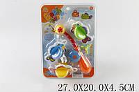 Грушка для ванной Удочка с рыбками на планшете 27х20х4