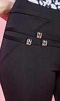 Черные женские лосины с пряжками
