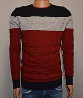 Мужской свитер бордовый Турция 5056