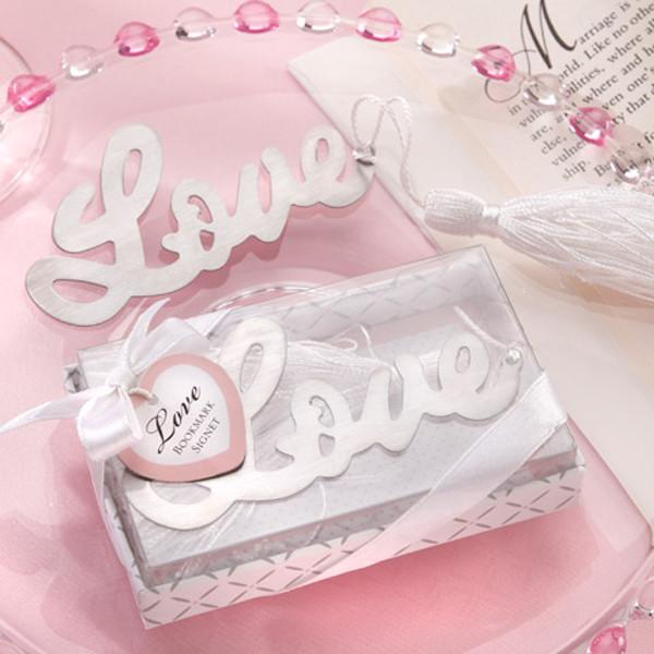 Подарки гостям на свадьбе - Закладка для книги