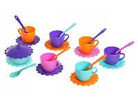 """Набор посуды """"Ромашка"""" на 6 перс. с сахарницей ЛЮКС паст./станд. Тигрес/100/ (m+)"""