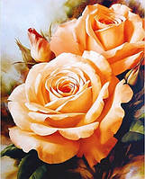 Алмазная вышивка без коробки MyArt Букет чайных роз 25 х 20 см (арт. MA476)