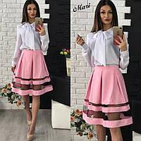 Модная женская красивая пышная юбка В10847, фото 1