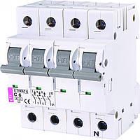 Автомат ETIMAT 6 3p+N C 6А (6 kA), ETI