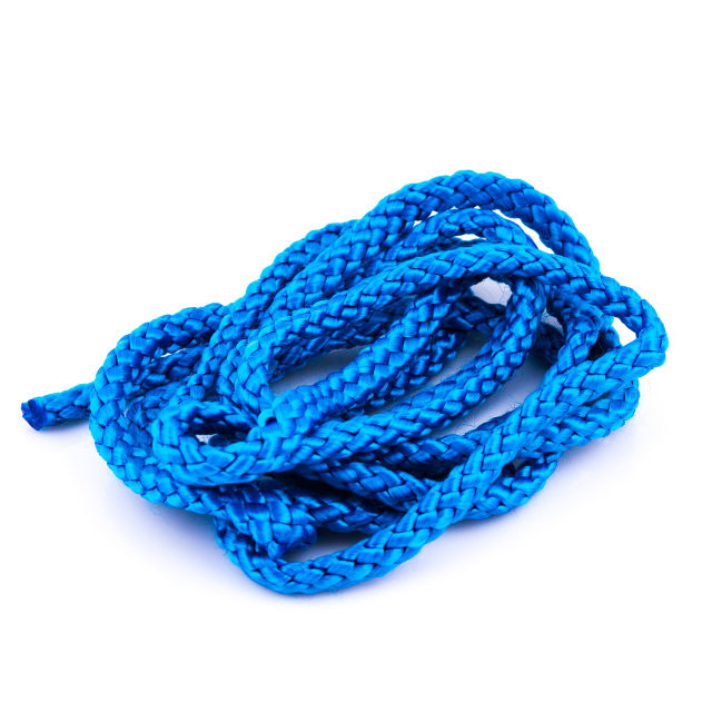 Скакалка гимнастическая синяя Тайвань. Распродажа! Оптом и в розницу!
