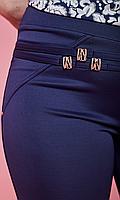 Темно-синее женские лосины с пряжками