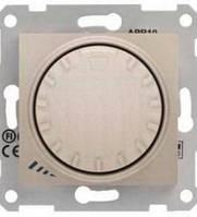 Диммер универсальный поворотно-нажимной титан Sedna