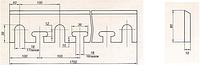 Линейка для  древесины 1700*80*15(6ХC)