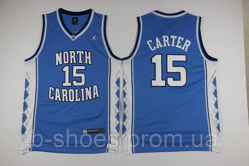 Мужская баскетбольная майка North Carolina (Vince Carter) Blue