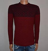 Мужской свитер бордовый Турция 5049