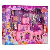Замок SG-2969  принцес,муз,св,31,5-25-13,5см,фигур от6,5см, мебель,карет,на бат,в кор 38-57-8см