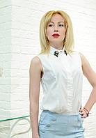 Брендовая женская блузка белая итальянская