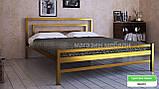 Кровать металлическая  Брио - 2  / Brio - 2 полуторная 120 (Метакам) 1260х2080х800 мм , фото 4
