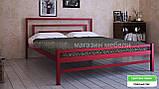 Кровать металлическая  Брио - 2  / Brio - 2 полуторная 120 (Метакам) 1260х2080х800 мм , фото 3