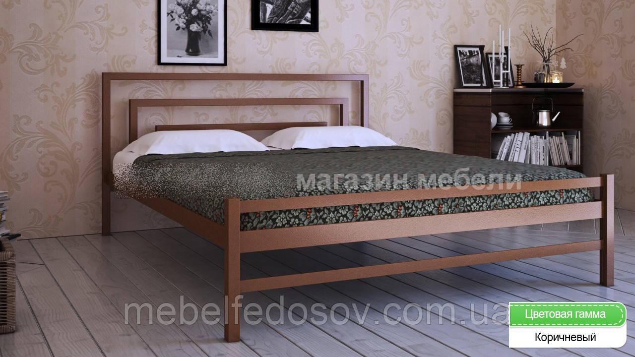 Кровать металлическая  Брио - 2  / Brio - 2 полуторная 120 (Метакам) 1260х2080х800 мм