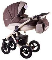Детская коляска универсальная 2 в 1 Adamex Aspena кожа 836S (Адамекс Аспена)