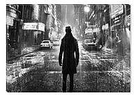 Светящиеся картина Startonight Одиночество Черно Белые Люди Печать на Холсте Декор стен Дизайн дома Интерьер