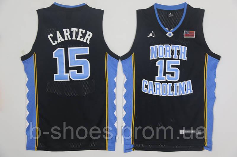 Мужская баскетбольная майка North Carolina (Vince Carter) Black