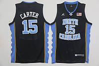 Мужская баскетбольная майка North Carolina (Vince Carter) Black, фото 1