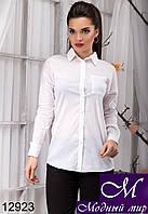 Строгая женская блуза белого цвета (р. S, M, L, XL) арт.12923