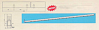 Линейка прижимная 3160*65*25 к машине ДКД 300 по чертежу ГМЗ