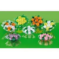 Оформленные вручную в форме корзинок с розами натуральные глицериновые мыла Роза фантазии насыщают воздух с уникальным и завораживающими ароматами болгарского розового масла.