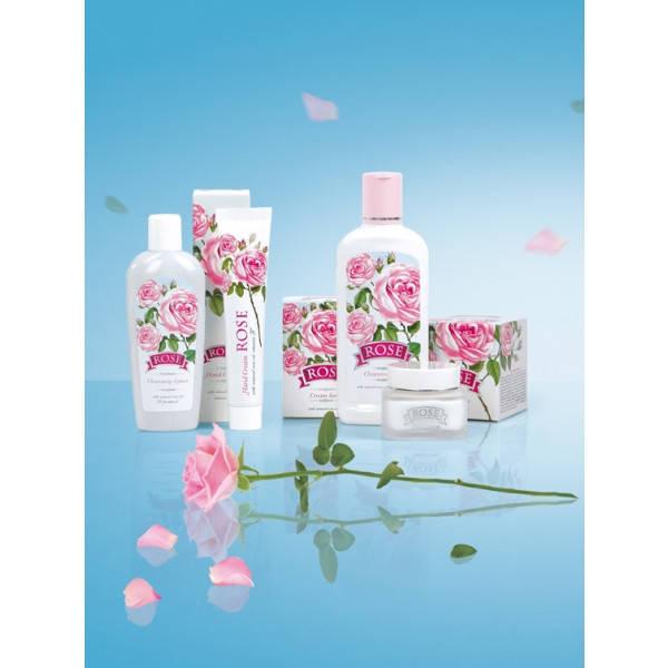 Продуктовая линейка косметической серии Rose включает в себя дневные и ночные крема для ухода за кожей лица и шеи, крема для рук, очищающие средства для лица, продукцию для ухода за волосами, а также продукцию для ухода за кожей тела.
