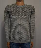 Мужской свитер серый Турция 5047