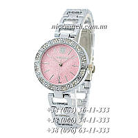 Часы наручные женские с камушками серебряные Givenchy под серебро