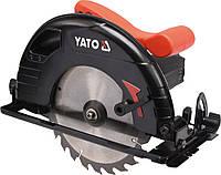 Пила дисковая ручная сетевая 2 кВт, для диска Ø- 235/25,4мм, угол 0-45 °, YATO YT-82153.