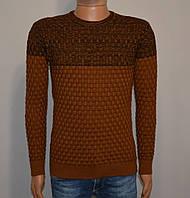 Мужской свитер коричневый Турция 5046