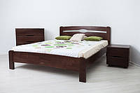 Деревянная кровать бук на ножках Нова Олимп для спальни из натурального дерева