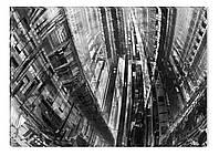 Светящиеся картина Startonight Город Абстракция Черно Белые Печать на Холсте Декор стен Дизайн дома Интерьер
