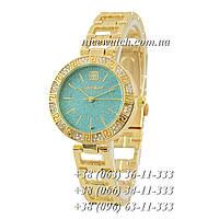 Часы наручные женские с камушками золотые Givenchy под золото