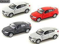 Модель машини KINSMART BMW X6, метал, инерц, 1:38, в коробке 16х8х7