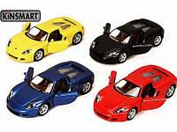 Модель машини KINSMART Porsche Carera GT, метал, инерционная игрушка в коробке 16х8х7