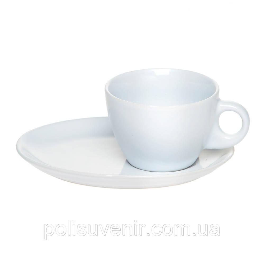 Витончена чашка конусоподібної форми з блюдцем 190 мл