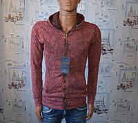 Кофта мужская на замке красная Турция 5044