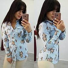 Рубашка цветы , фото 2