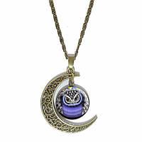 Кулон женский Сова-Луна
