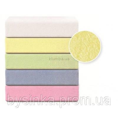 Непромокаемая махровая простынь-наматрасник для детской кроватки 120*60 см