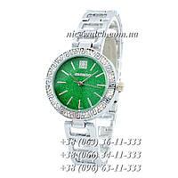 Часы наручные женские с камушками серебряные Givenchy под серебро SSB-1102-0006