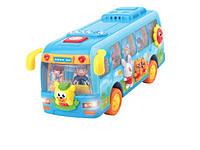 Автобус школьный на батарейках музыка свет в коробке