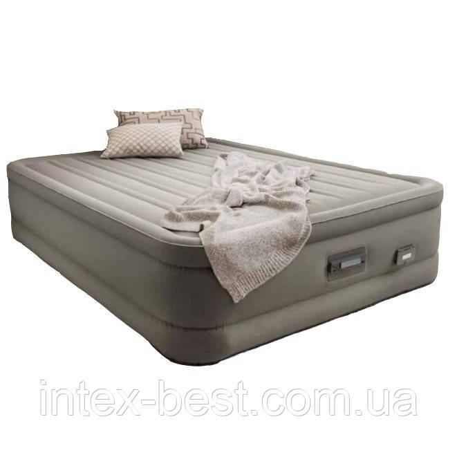 Intex 64770 надувная кровать Premium Comfort-Plush 203x152x46см