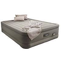 Двухспальная надувная флокированная кровать Intex 64770 (203x152x46 ) с встроенным насосом