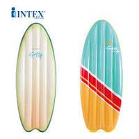 """Доска для серфинга надувная """"Surf up mats""""  Intex 58152 178*69 см 2 цвета"""