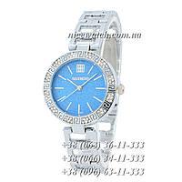 Часы наручные женские с камушками серебряные Givenchy под серебро SSB-1102-0007