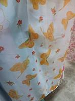"""Гардина вуаль принт """"Бабочка желто-оранжевая""""  в. 2.80 м"""