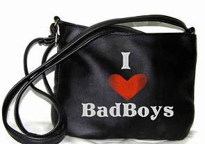 """Сумочка """"Mini"""" - №58 """"I love Bad Boys"""" - цвет на выбор"""