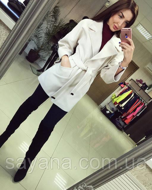 """Женское кашемировое пальто """"Chanel"""", в расцветках. Т-5-0117"""